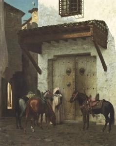 Jean-Leon Gerome Slave Holding Horses